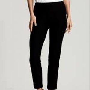 Eileen Fisher Black Linen Side Zip Ankle Pant